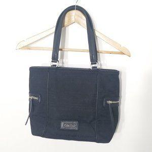 Calvin Klein   Black Signature Logo Tote Bag Purse